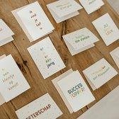 12x hippe gekleurde kaartjes (A6 formaat) - kaartjes om te versturen - kaartenset - kaartjes blanco - kaartjes met tekst - wenskaarten