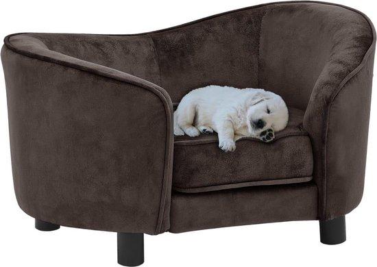 Honden sofa XL velours - honden mand - hondenbank - dieren bank - bruin