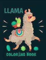 Llama coloring book: Cute and Fun Llama Coloring Book for Kids, Boys & Toddlers