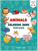 = Animals Coloring Book for Kids Age 2-4