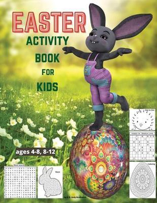 EASTER Activity Book for kids ages 4-8, 8-12