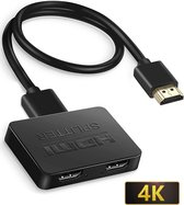 GoodsToUse HDMI Splitter – HDMI Switch – 1 Ingang 2 Uitgangen – 4K Resolutie – 1080 Pixels – Incl. USB-kabel