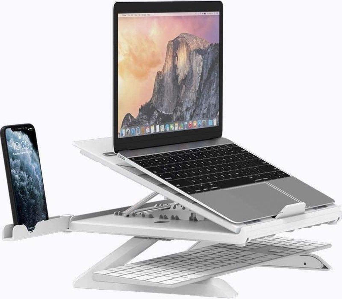Tronsmart Laptopstandaard, ergonomisch, verstelbaar, voor laptops en tablets, geschikt voor laptop (10-17 inch) zoals MacBook Pro/Air, Surface, Samsung, HP, iPad