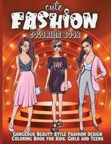 Cute Fashion Coloring Book