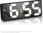 Wekker digitaal - snooze functie - helderheid instelbaar - temperatuur - moderne spiegel