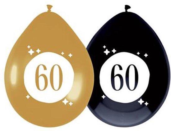 Ballonnen 60 jaar Festive Gold 6 stuks