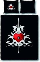 Covers & Co Dolk Dekbedovertrek - Tweepersoons - 200x200/220 cm - Black
