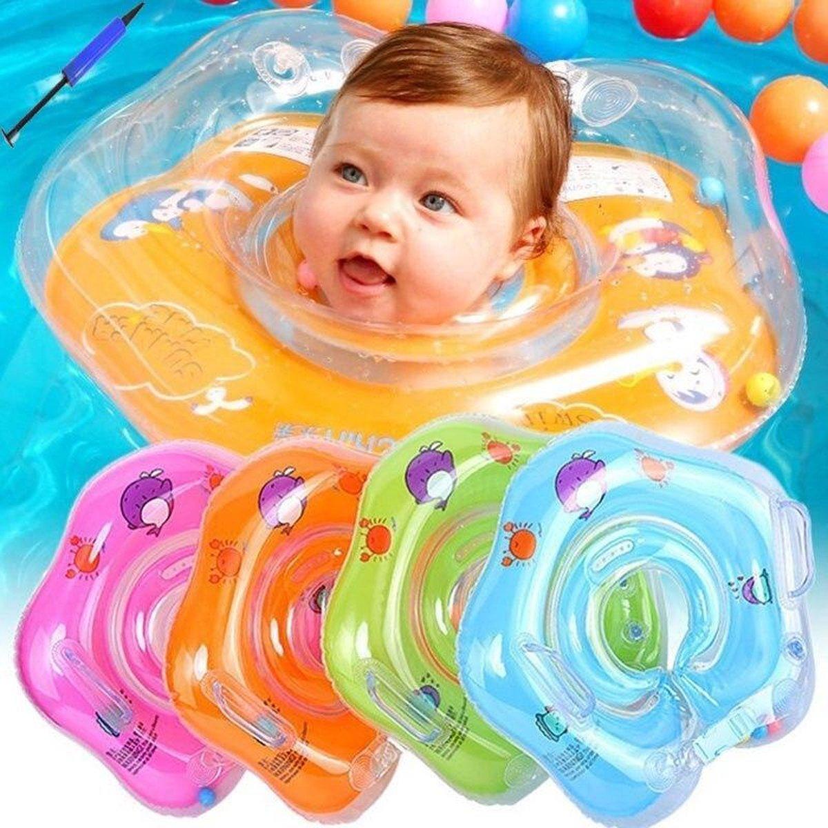 MaxiSales - Baby Zwemband - Zwemmen of lekker dobberen met je baby! - Blauw
