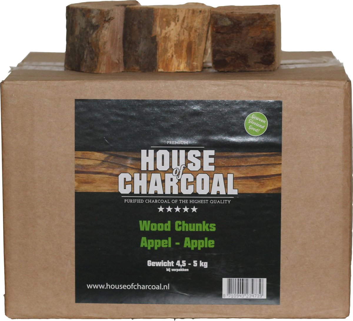 Rookhout chunks Appel - Smoking wood chunks Apple - 5 kg