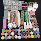 Royala  Acrylnagels Set | Nepnagels | Acryl Nagels Kit Starterspakket | Basispakket | Nail Art Pakket | 42 kleuren Acryl Poeders/Glitters | 500 Franse Tips | Acrylic Liquid | Nagel Sjablonen | Nagel Lijm
