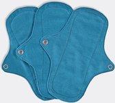 Eco Femme Inlegkruisjes 3-Pack (met pul) - 100% Biologisch Katoen - Blauw