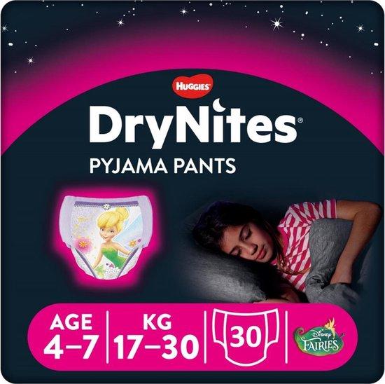 DryNites absorberende luierbroekjes - meisjes - 4 tot 7 jaar - 30 stuks
