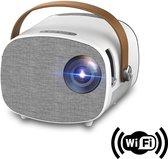 Mini Beamer - Smartphone Functie - Beamer Projector -  Wifi Functie - Beamer scherm - Films - Games - Screen Mirror - Ingebouwde Speaker