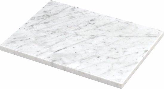 Marmeren plaat wit - 45cm x 35cm - Chocolade plank