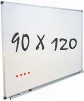 IVOL Whiteboard 90x120cm - Magnetisch - Gelakt staal - Met montagemateriaal