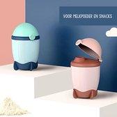 Melkpoeder Doseerdoosjes - Luxe - Design - Melkpoeder Toren - Babyvoeding - Bewaarbakjes - Schenktuit - BPA vrij - Meenemen en bewaren - Dispenser - Melkpoeder - Snacks - 4 laags - Family Favorites - Kraamcadeau - ROZE