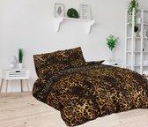 Sleeptime Jaguar Love - Dekbedovertrekset - Tweepersoons - 200x200/220 + 2 kussenslopen 60x70 - Taupe