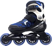 Fila J-ONE 21 Kinder inline skates verstelbare skeelers - Black / Blue - Maat 36/40