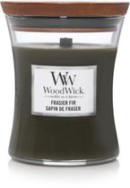 Woodwick Hourglass Medium Geurkaars - Frasier Fir