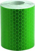 Reflecterende tape - GROEN - 3 meter rol - 5cm breed