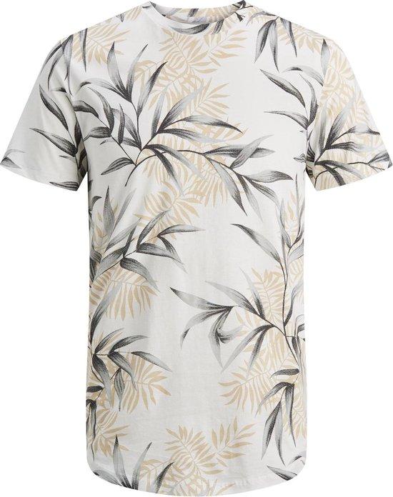 Jack & Jones T-shirt - Mannen - wit/grijs/geel