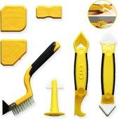 M-Iconic 5 in 1 Kit Schraper - Kitmes - Kitspatel - Kitstrijker - Kitschraper - Siliconen verwijderaar - Kit verwijderaar - Geel