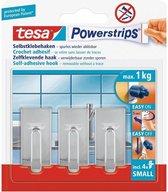 Tesa Powerstrips Haken Classic Small - Chroom - 3 Stuks