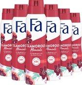 Fa Glamorous Moments Deospray 6x 150ml - Voordeelverpakking