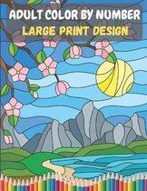 Adult Color By Number - Large Print Design
