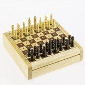 Longfield Games Pocket Schaakspel - Rubberhout
