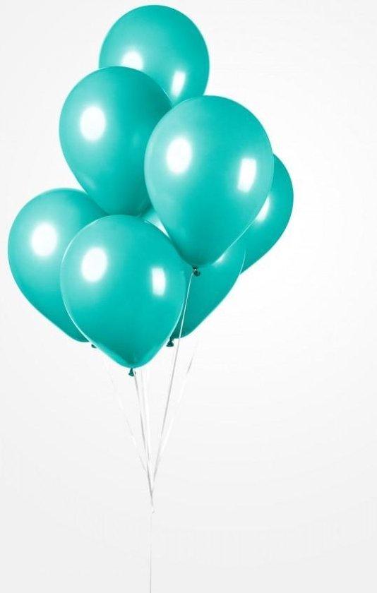 25 Ballonnen Turquoise , 30 cm , Helium geschikt, Verjaardag, Feest, Voetbal