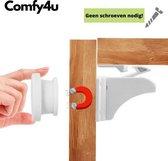 Comfy4U - Kind Veiligheid Magneten 4 Magneet sloten + 1 Magneet sleutel - Magneetslot Kinderveiligheid - Magneetslot Baby - Kast Beveiliging Baby - Kinderslot kastjes - kinderbeveiliging voor kasten - Baby en Kind