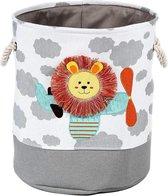 Baby cadeau jongen - Speelgoedmand voor kinderkamer - Voor knuffels - Leuke Leeuw - Wasmand met handvatten - Katoen wasmand voor Kinderkamer of Babykamer - Opbergzak Speelgoed
