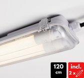 Proventa LED TL armatuur compleet incl. 2 x LED buis van 120 cm - 36W vervangt 60W