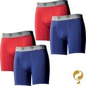 Quick Q1905 Bodywear Heren Boxershorts 4-Pack Blauw Rood Blauw Rood