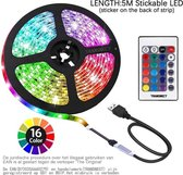 TRANSNECT LED-strip - 5 meter - multi-colour - dimbaar - incl. afstandsbediening - zelfklevend