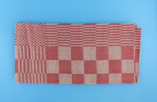 Theedoek - Theedoeken - 65x65 cm - Keukendoek - Keukendoeken - Rood -100% katoen - Goede kwaliteit