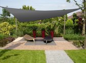 Schaduwdoek Driehoek 300 cm Antraciet HDPE - Ademend - zonwering UV-bescherming - Zonnezeil