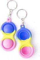 ColourFam® siliconen pop up fidget - Paarse cirkel - Fidget Toys
