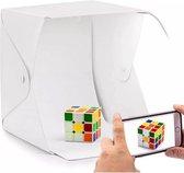 GT Commerce Fotostudio fotobox | Foto studio met LED verlichting | Opvouwbaar | Lightbox / opnametent | 40 x 40cm