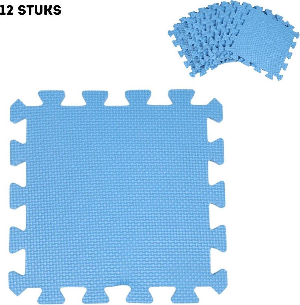 Zwembadtegels - 12 stuks - Ondertegels - Grondzeil - Vloerbescherming - Ondergrond - Foam - Tegels - Vloerpuzzel - Matten - Mat - Speelmat - Puzzelmat voor zwembad - Baby - Kinderen - Fitness - Buitentegels