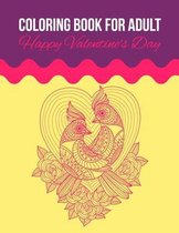 Coloring Book For Adult Happy Valentine's Day