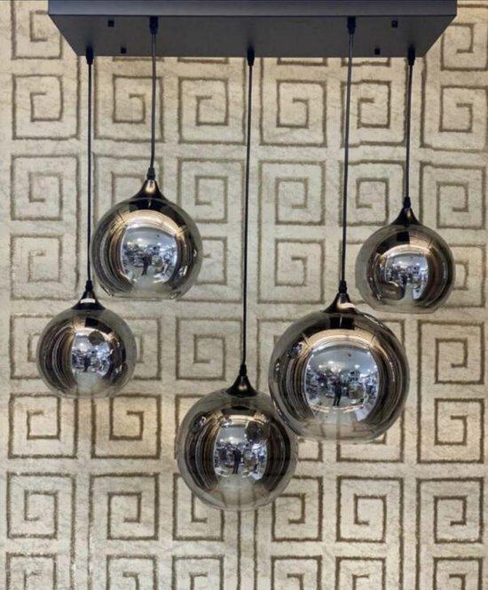Smoke hanglamp met 3 bollen - Bollamp -