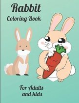 Rabbit Coloring Book For Adults and kids