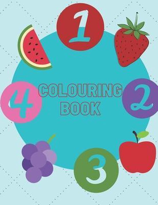 colouring book: colouring book for kids . numbre 1-10, 24 page