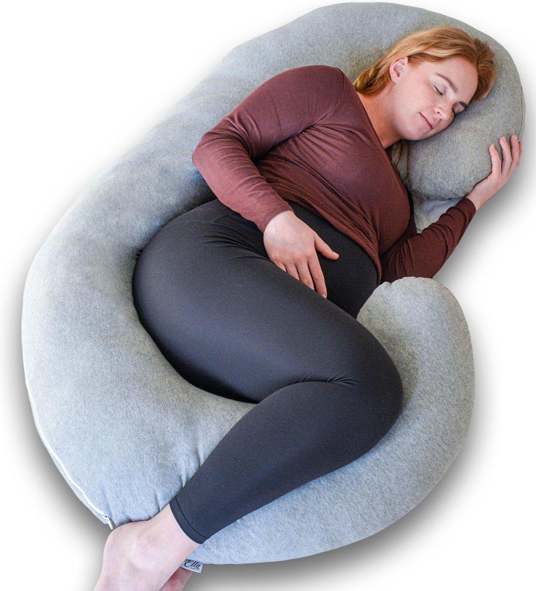Ella zwangerschapskussen XXL C-vorm - Voedingskussen - Lichaamskussen - Afneembare Jersey Katoenen H