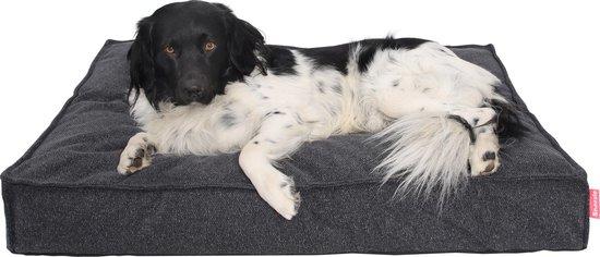 Snoozle Hondenkussen Amsterdam - Orthopedisch - Wasbaar - Hondenmand - Hondenbed - 80 x 55 cm - Stormy Grey