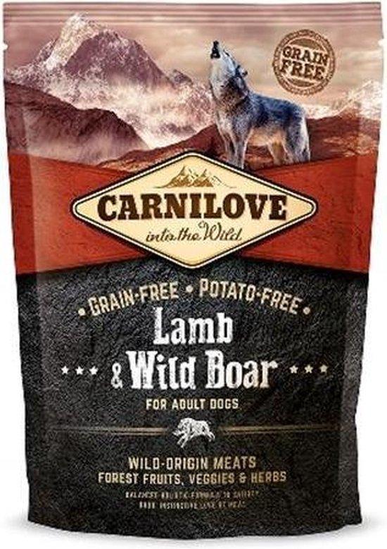 carnilove grain free lamb & wild boar adult 12 kg -  - honden droogvoer