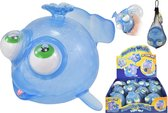 Walvis Orbeez stressbal - Met lichtje - Blauw - Fidget toy - 14 cm