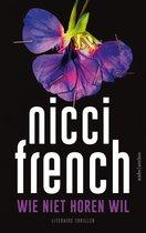 Boek cover Wie niet horen wil van Nicci French (Onbekend)